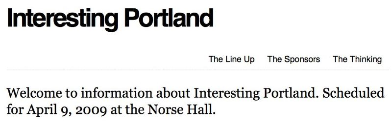 Interesting Portland » The Line Up