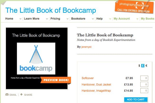 The Little Book of Bookcamp | Blurb