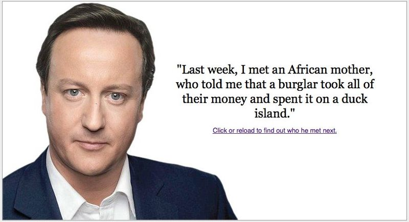 Who has David Cameron been talking to?